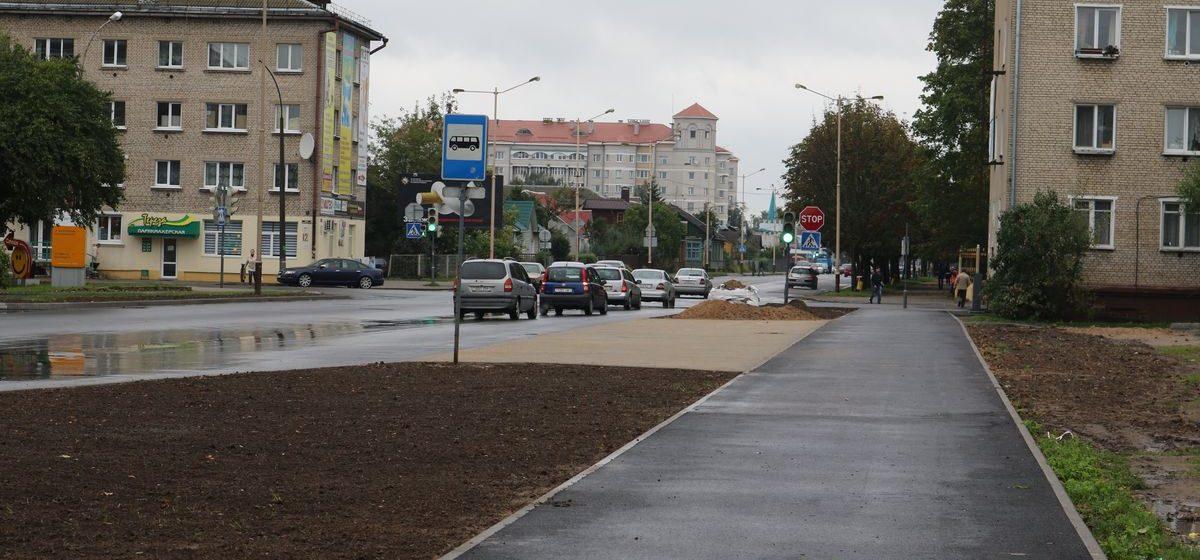 В Барановичах открыли движение по улице Притыцкого и завершают работы на улицах Гагарина и Строителей