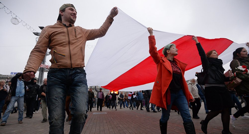 В Минске прошла акция протеста против учений «Запад-2017»