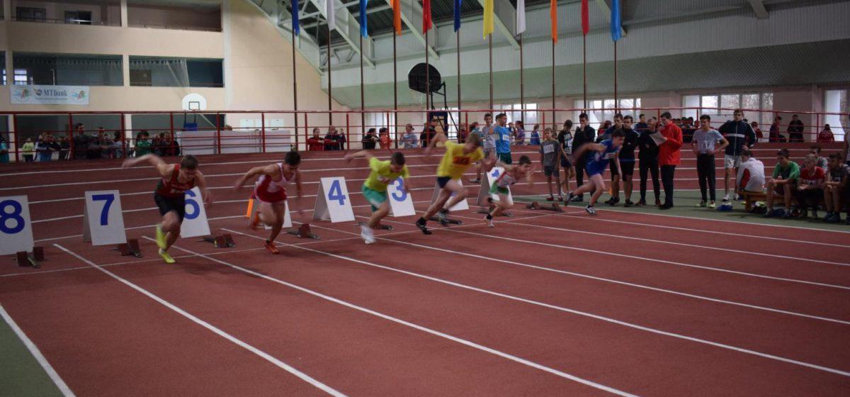 Команда юных легкоатлетов из Барановичей заняла 1-е место на первенстве области