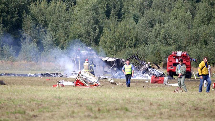 В подмосковной Балашихе во время авиашоу разбился самолет Ан-2 (видео)