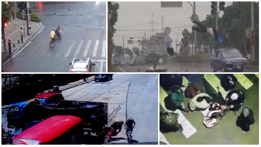 ТОП-7 ужасных аварий за неделю: смертельное селфи, велосипедист на встречке, летающий автомобиль