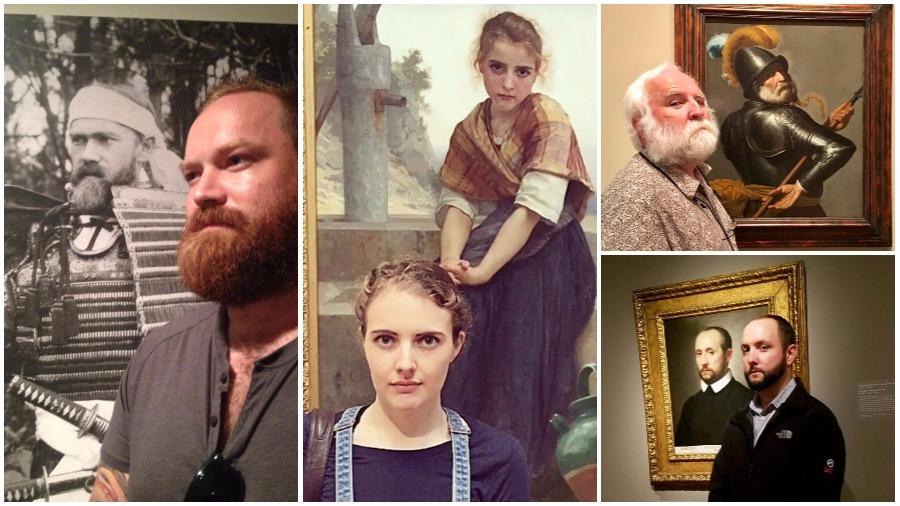 Подборка фотографий посетителей музеев, которые нашли своих двойников на картинах