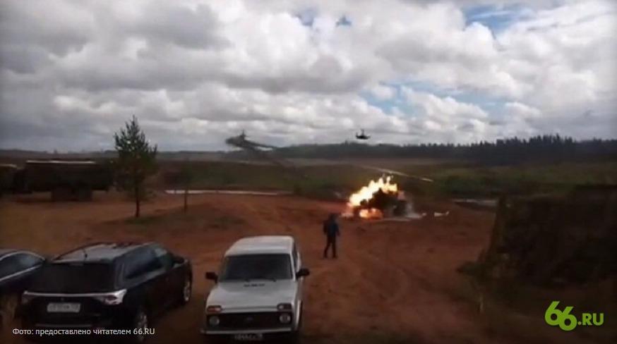 На учениях «Запад-2017» вертолет выпустил ракеты по зрителям, ранены два человека (видео)