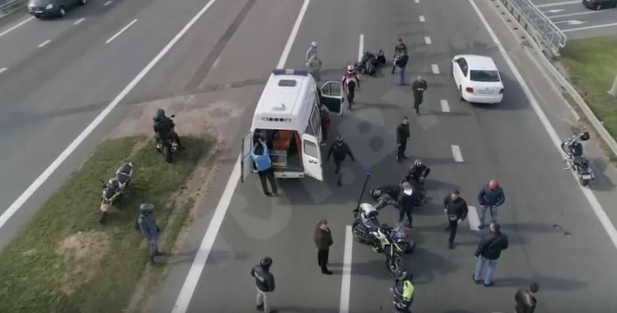 В Минске во время закрытия мотосезона байкеру оторвало ногу