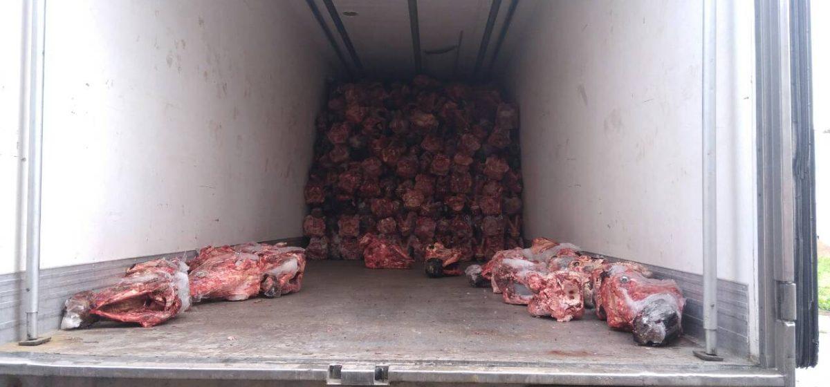 В Барановичах изъяли 20000 кг говяжьих субпродуктов без документов
