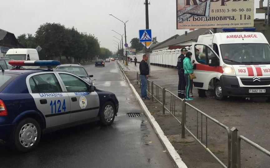 В Барановичах на пешеходном переходе автомобиль сбил двух женщин