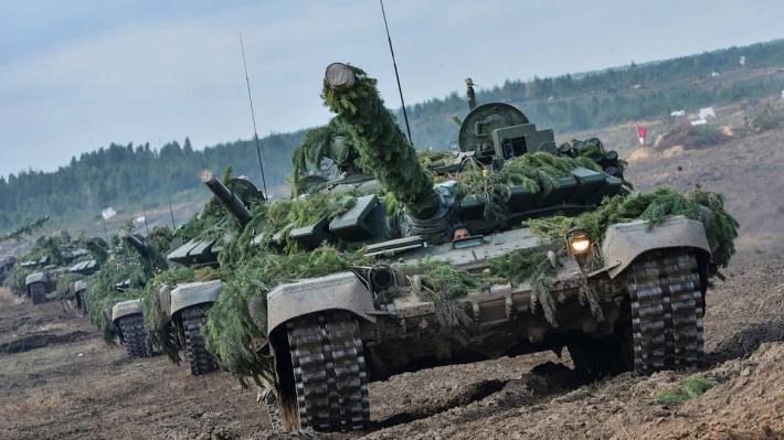 На учениях с участием Путина россияне «остановили атаку боевиков на Беларусь»