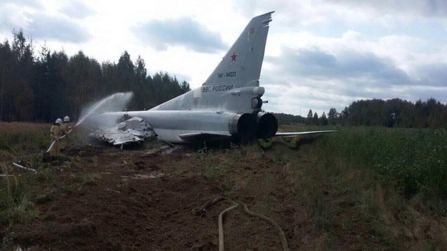 В России при посадке потерпел аварию сверхзвуковой ракетоносец-бомбардировщик Ту-22М3 ВКС