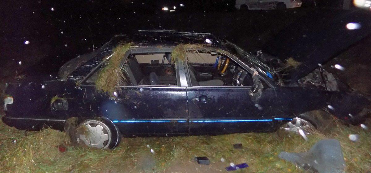 Под Ивацевичами пьяный водитель на Audi съехал в кювет и перевернулся