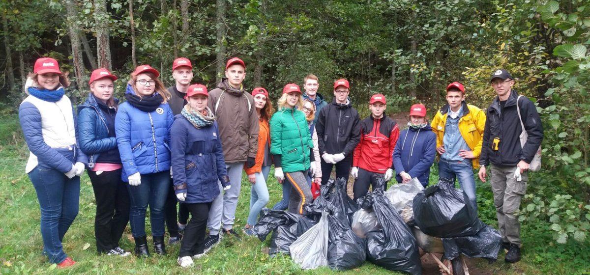 Барановичская молодежь очистила от мусора экотропу в Павлиново