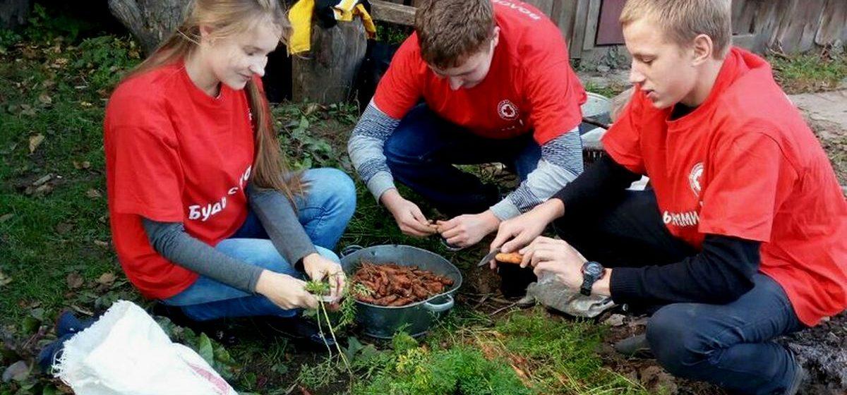 В Барановичах Красный Крест помогает одиноким пенсионерам с уборкой приусадебных участков
