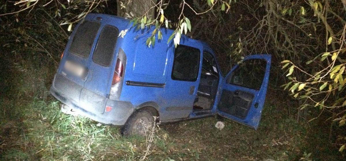 Под Дрогичином водитель врезался в дерево и погиб, пассажир в реанимации
