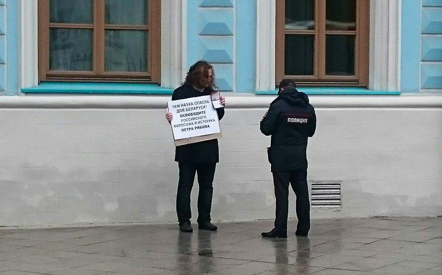 В Москве из-за ареста в Барановичах российского историка прошла серия пикетов