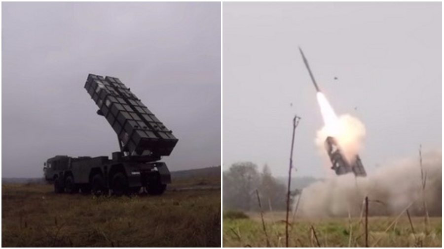 На одном из полигонов Гомельской области испытали белорусский ракетный комплекс «Полонез» (видео)