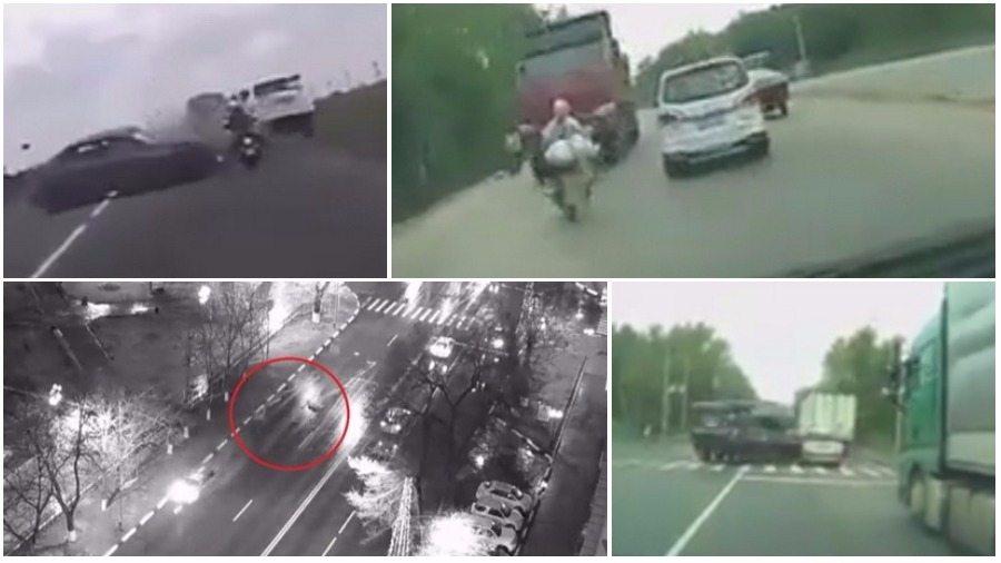 ТОП-7 ужасных аварий за неделю: расплющило между КамАЗом и фурой, смертельный обгон, танковый дрифт
