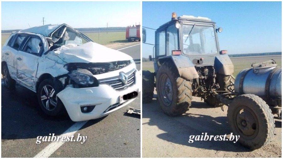 В Ивановском районе легковушка столкнулась с трактором, погиб один человек