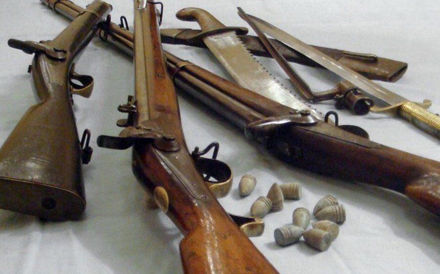 В Барановичах за первый день мероприятия «Арсенал» в милицию сдали охотничье ружье и более 30 патронов