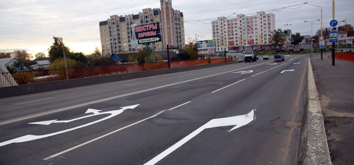 В Барановичах на кольце около улицы Советской изменили дорожную разметку