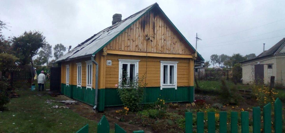 В Ляховичах горел жилой дом – хозяйка спаслась через окно