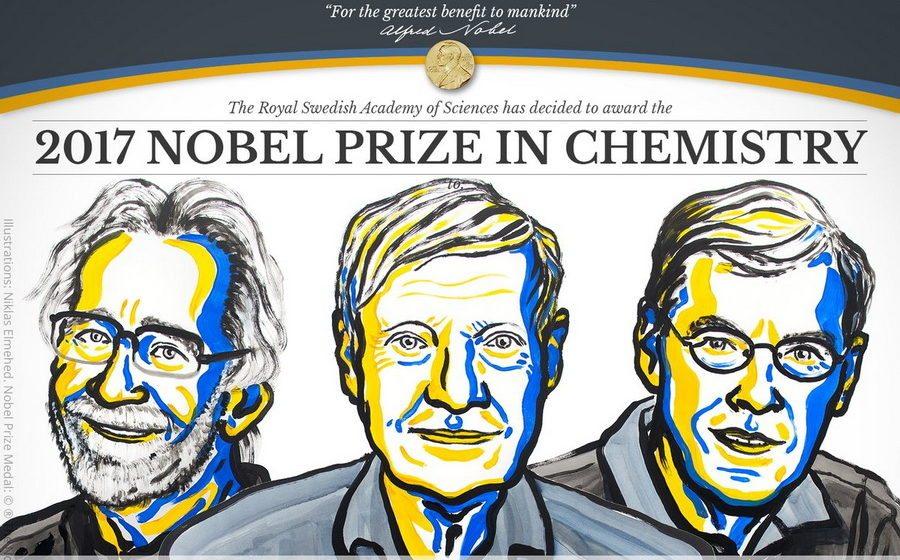 Объявлены лауреаты Нобелевской премии по химии за 2017 год