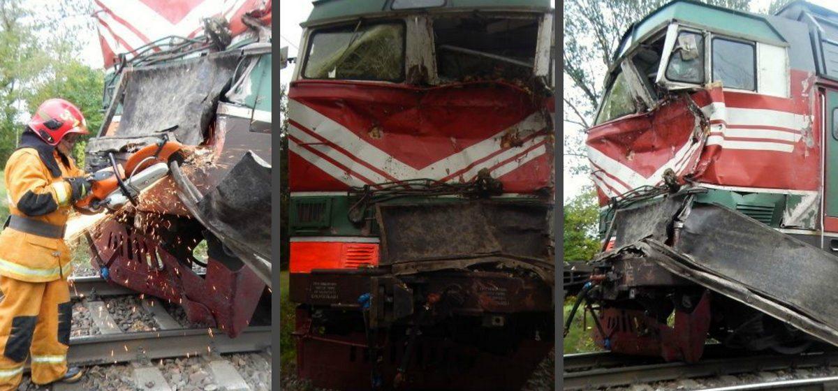 В МЧС рассказали о подробностях столкновения под Барановичами грузовика и двух поездов