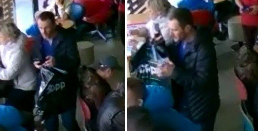 В Минске камера видеонаблюдения в McDonald's сняла, как «работает» карманный вор