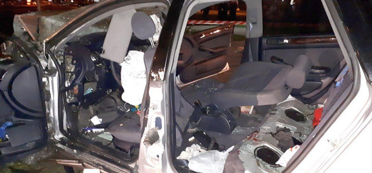 Ночное ДТП в Бресте: пострадало шесть человек (видео)