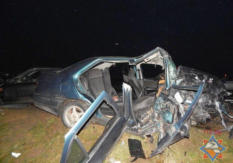 Появилось видео за мгновение до аварии на Гродненщине, в которой пострадали семь человек