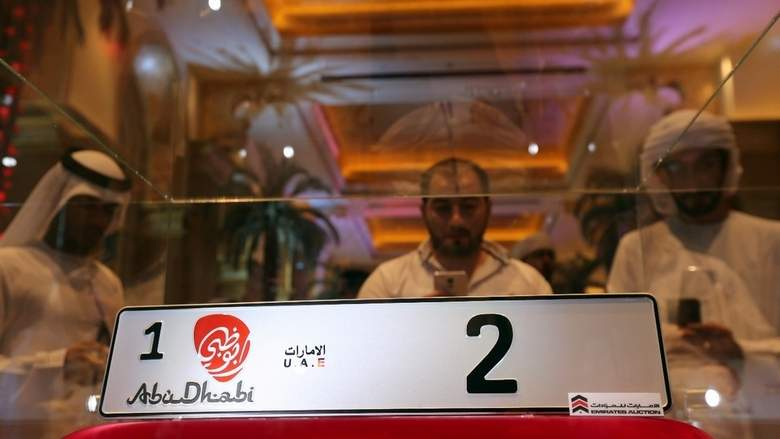 В ОАЭ регистрационный номер для автомобиля купили за 3 миллиона долларов