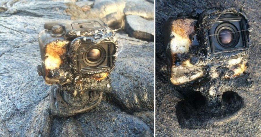 На Гавайях камера GoPro уцелела в потоке лавы и сняла извержение вулкана на видео