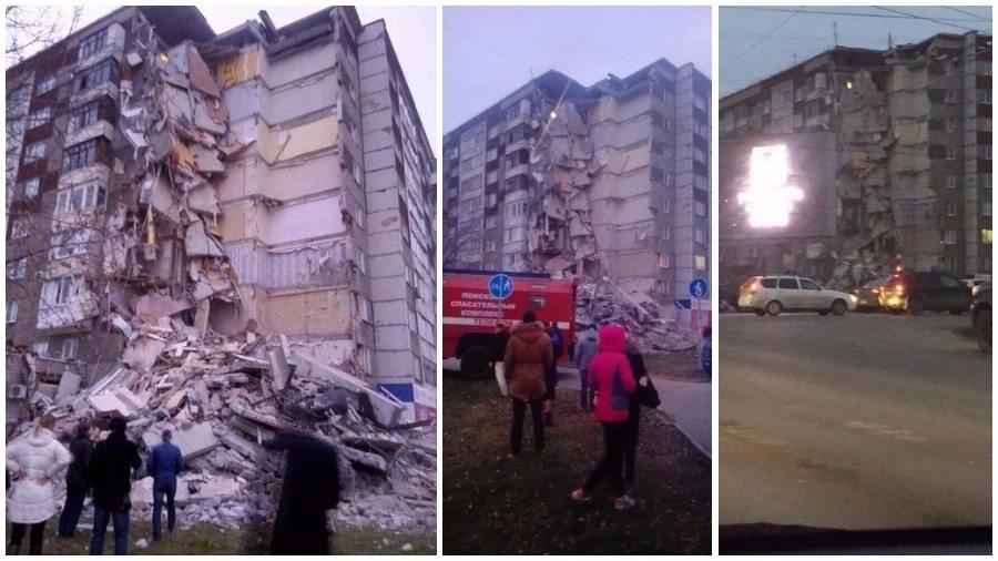 Из-под завалов обрушившегося дома в Ижевске извлекли седьмого погибшего