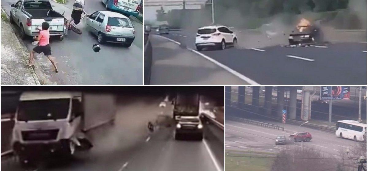 ТОП-7 ужасных аварий за неделю: смертельный туман, раздавило между двумя грузовиками, отчаянный мотоциклист (видео 18+)