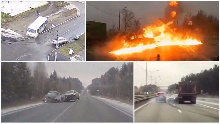 ТОП-7 ужасных аварий за неделю: водитель сгорел заживо, ДТП с депутатом и автобусом, фура против легковушки