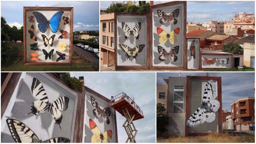 Французский уличный художник превращает скучные фасады домов в гигантские произведения искусства