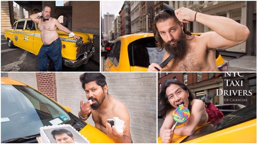 Таксисты из Нью-Йорка снялись для собственного «горячего» календаря (фото)