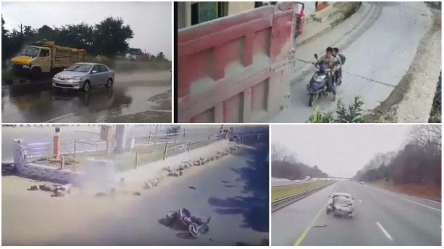 ТОП-7 ужасных аварий за неделю: фура догнала легковушку, мотороллер против грузовика, не проскочил на «красный»