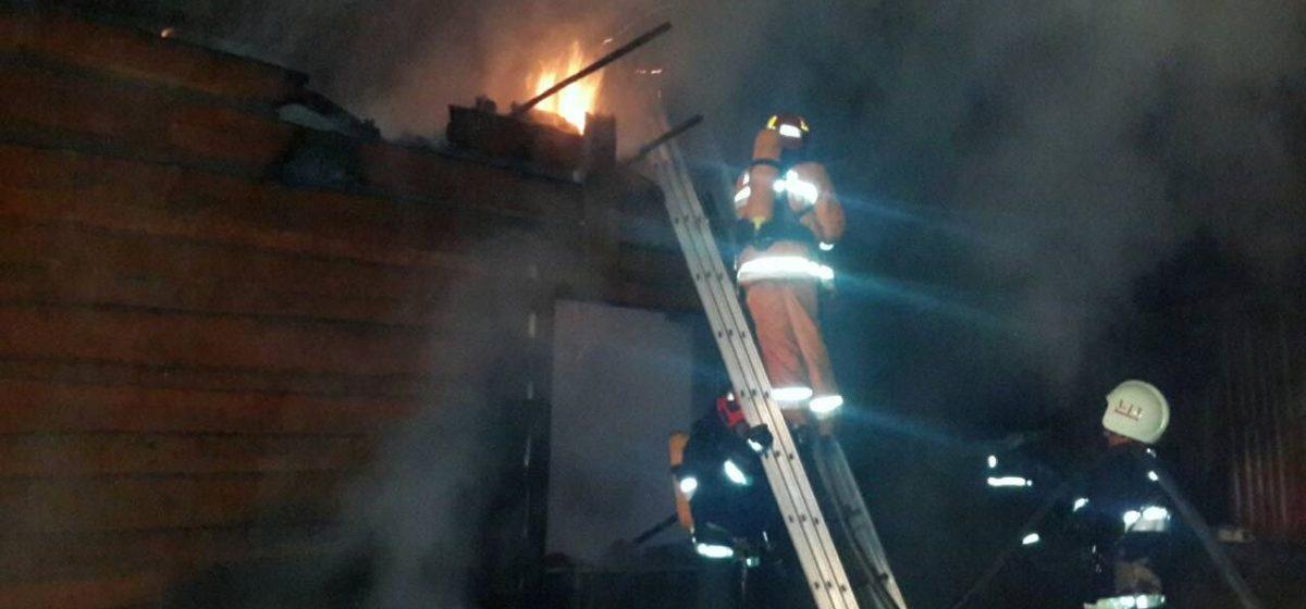 В Барановичском районе сгорел дом