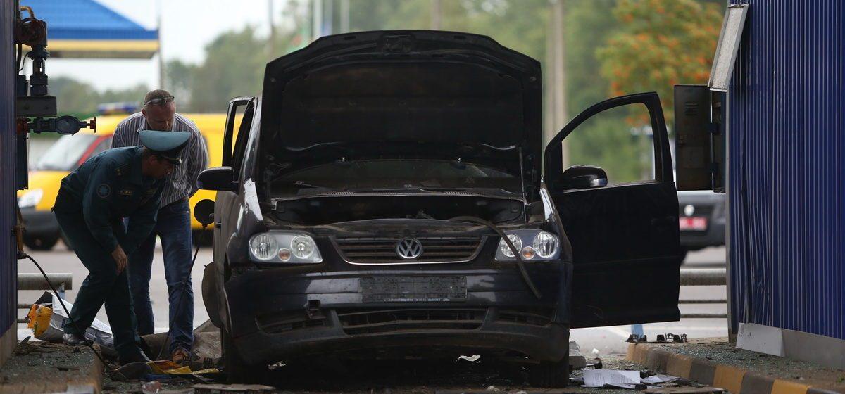 СК все-таки возбудил уголовное дело по взрыву газового баллона в Volkswagen на АЗС в Барановичах