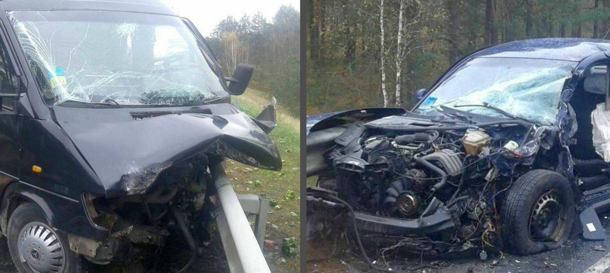 Под Лунинцем в лобовую столкнулись Mercedes и Volkswagen, есть погибший
