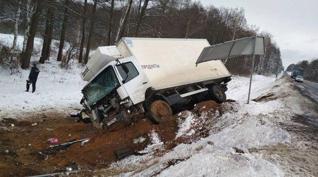 В Минской области погиб уснувший за рулем водитель грузовика