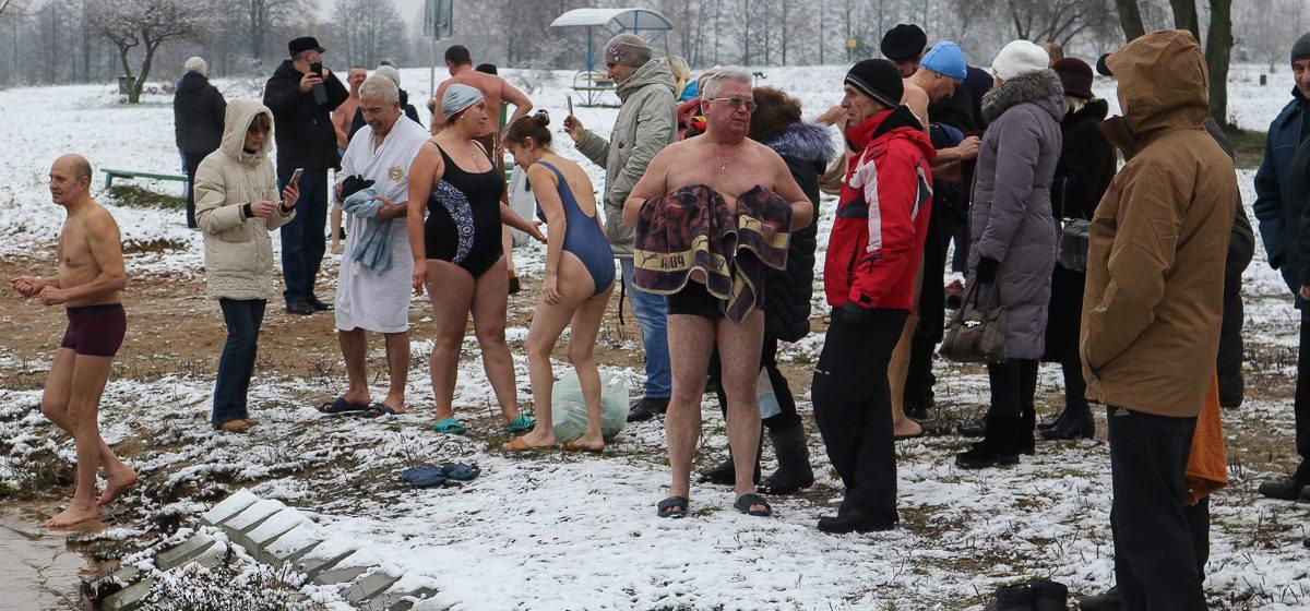 Барановичские «моржи» искупались в Мышанке
