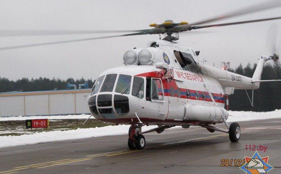 Белорусские спасатели получили отремонтированный в Барановичах вертолет Ми-8 МТВ-1