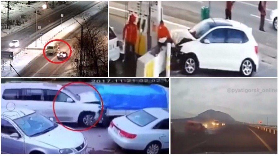 ТОП-7 ужасных аварий за неделю: пешеход-везунчик, смертельный занос, сбили ребенка на пешеходном переходе (видео 18+)