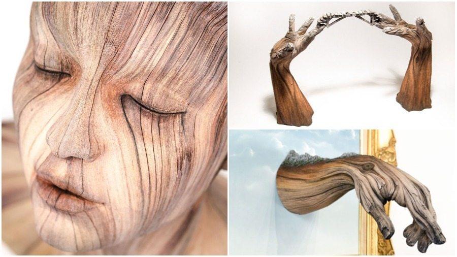 Подборка фотографий удивительных «деревянных» скульптур из керамики