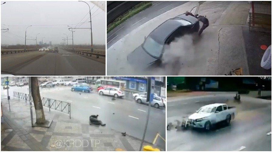 ТОП-5 ужасных аварий за неделю: лоб в лоб на встречке, сбил мотоциклиста на красный, последние секунды жизни (видео 18+)
