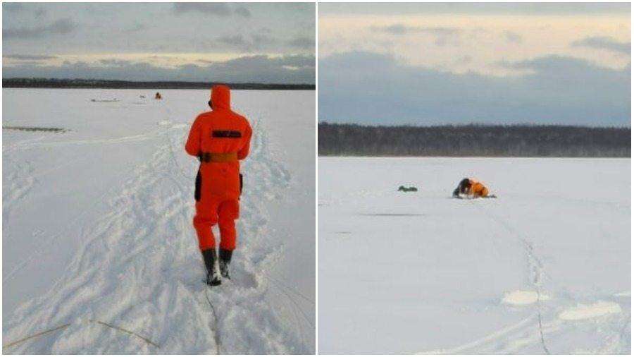 В Докшицком районе сотрудники МЧС спасли из-подо льда двоих рыбаков