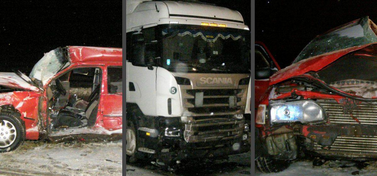В Борисове Ford врезался во встречную фуру: водитель погиб, пассажирка в реанимации