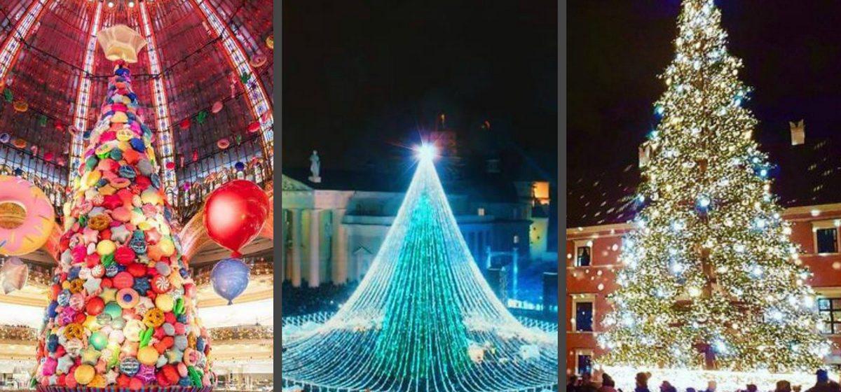 Красивые и необычные новогодние елки 2017 года в разных городах мира