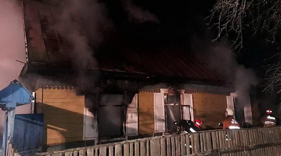В Борисовском районе при пожаре погибли пять человек