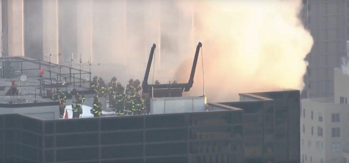 В Нью-Йорке загорелась «Башня Трампа» (видео)